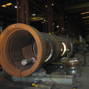 Large section of pipe inside the PECO building